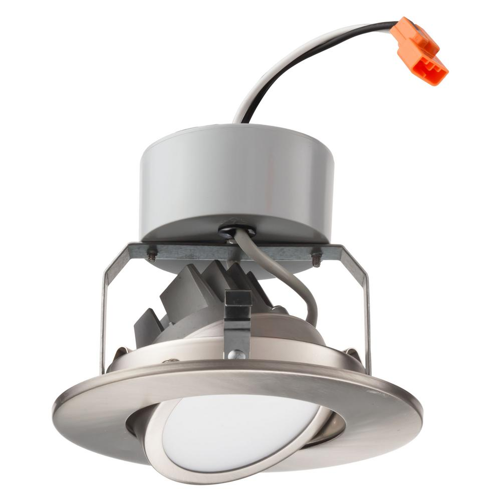 Lithonia Recessed Led Trim: Lithonia Lighting 4 In. Brushed Nickel Integrated LED