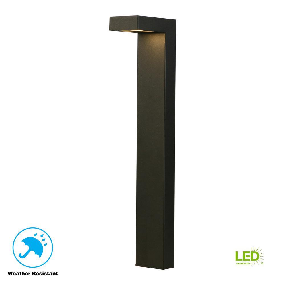 3-Watt Black Outdoor Integrated LED Landscape Path Light