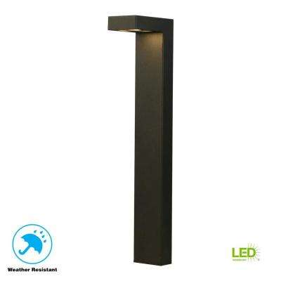 3-Watt Black Outdoor Integrated LED Landscape Path Light
