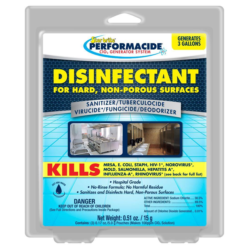 Star Brite Performacide 1 Gal. Disinfectant for Hard Non-Porous Surfaces Refill (3-Pack)