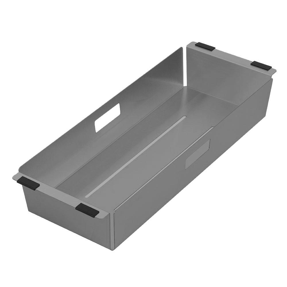 Noah Plus 17 in. Stainless Steel Sink Colander in Gunmetal