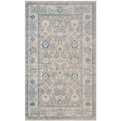 Patina Taupe/Ivory 3 ft. x 5 ft. Area Rug
