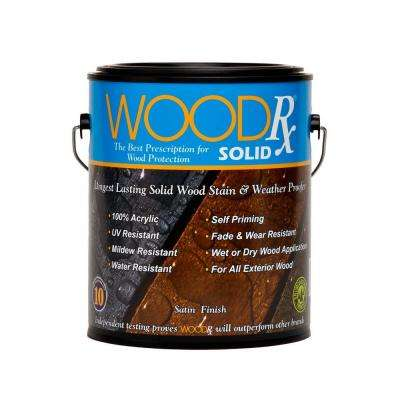 1 gal. Dark Brown Solid Wood Exterior Stain and Sealer