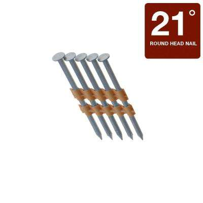 3 in. x 0.131 in. 21° Round Style 304 Stainless Steel Plastic Framing Nail