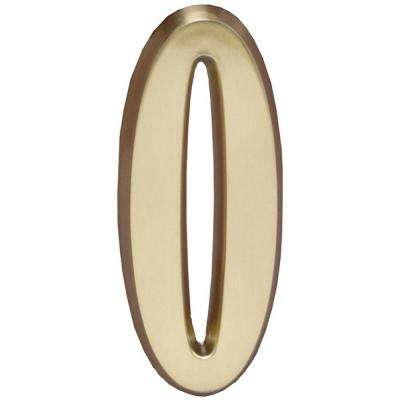 4 in. Satin Brass Number 0