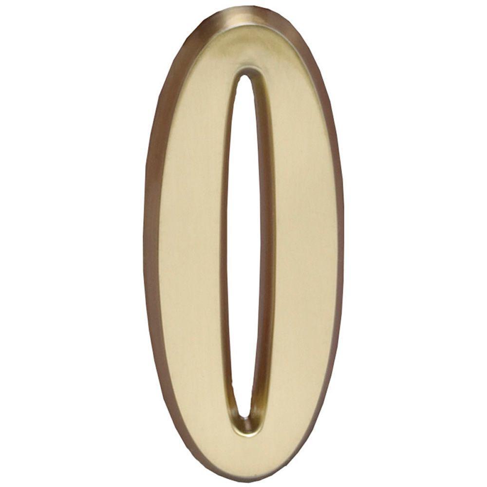 4 in. Satin Brass Number 0