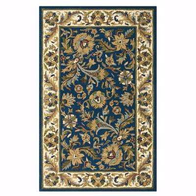 Dudley Blue/Beige 4 ft. x 6 ft. Area Rug