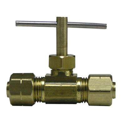 Lead-Free Brass Compression Needle Valve 3/8 in.
