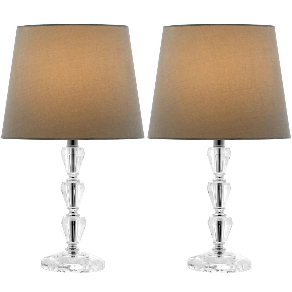 Dylan 15 in. Clear Tiered Crystal Orb Lamp (Set of 2)