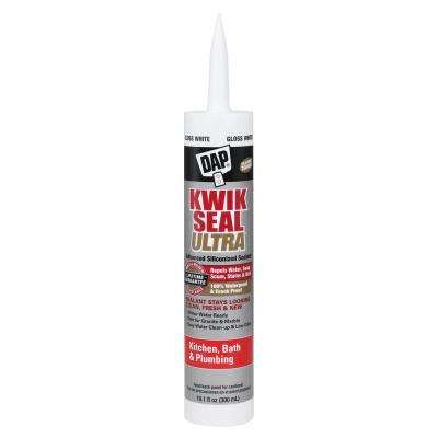 Kwik Seal Ultra 10.1 oz. White Advanced Siliconized Kitchen and Bath Caulk