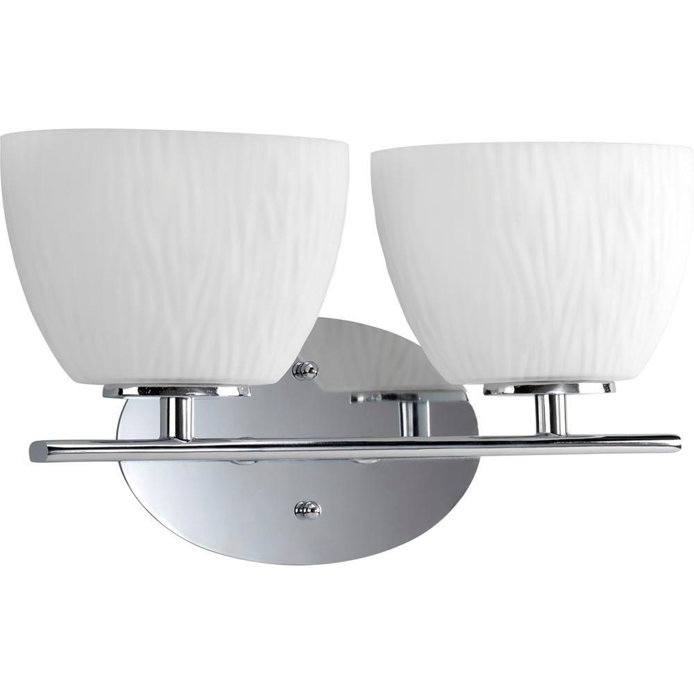 Progress Lighting Laguna Collection Chrome 2-light Vanity Fixture-DISCONTINUED