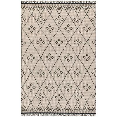 Shirley Moroccan Transitional Gray 8 ft. x 11 ft.  Indoor/Outdoor Area Rug