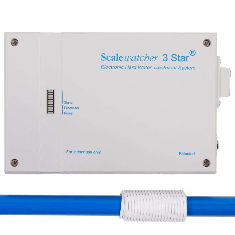 Scalewatcher 3 Star Whole House Electronic Descaler and Anti Rust Water Conditioner Treatment System