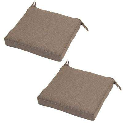 20 X 19 Outdoor Chair Cushion In Standard Saddle (2 Pack)