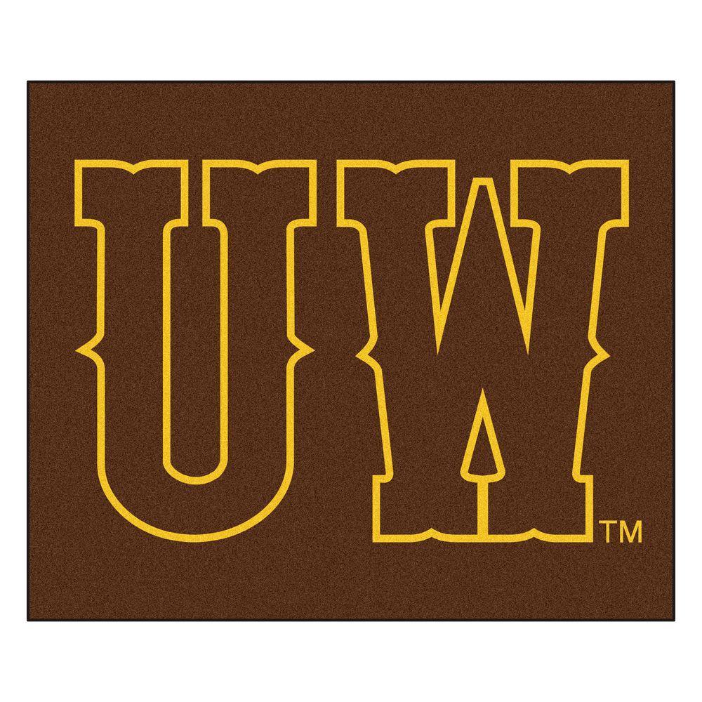 University of Wyoming 5 ft. x 6 ft. Tailgater Rug