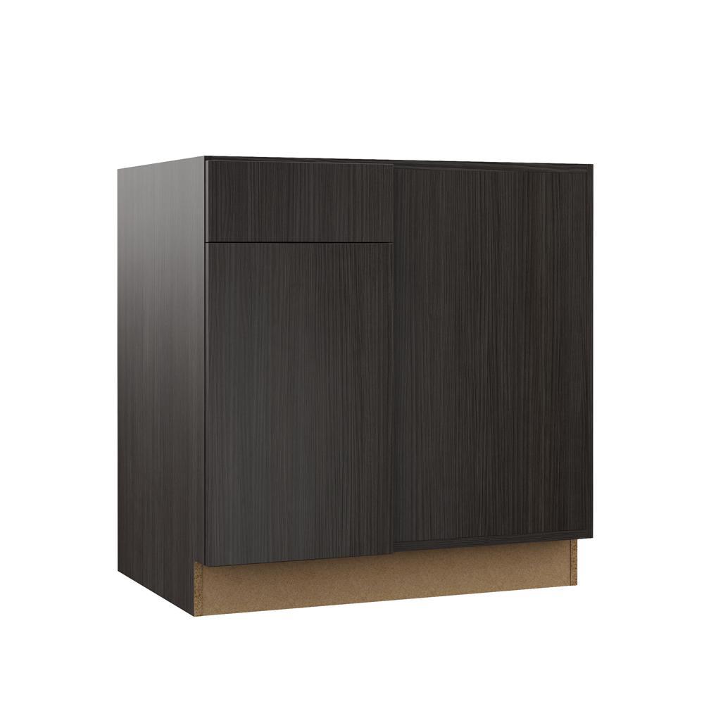 Hampton Bay Designer Series Edgeley Embled 42x34 5x23 In Blind Corner Base Kitchen Cabinet