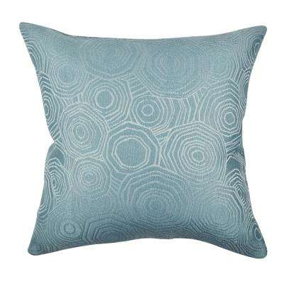 Teal Tiles Matelass Throw Pillow