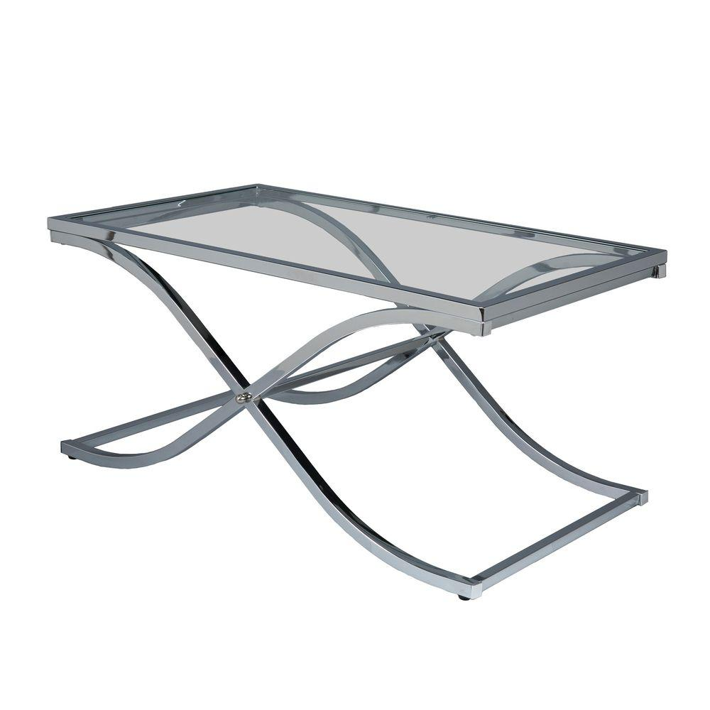 Silver Studded Coffee Table: Home Decorators Collection Bella Glass Aged Silver Coffee