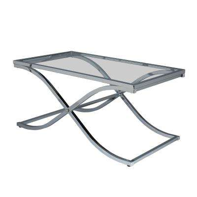 Vogue Chrome Contoured Coffee Table