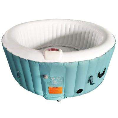 4-Person 130-Jet Inflatable Hot Tub with Cover
