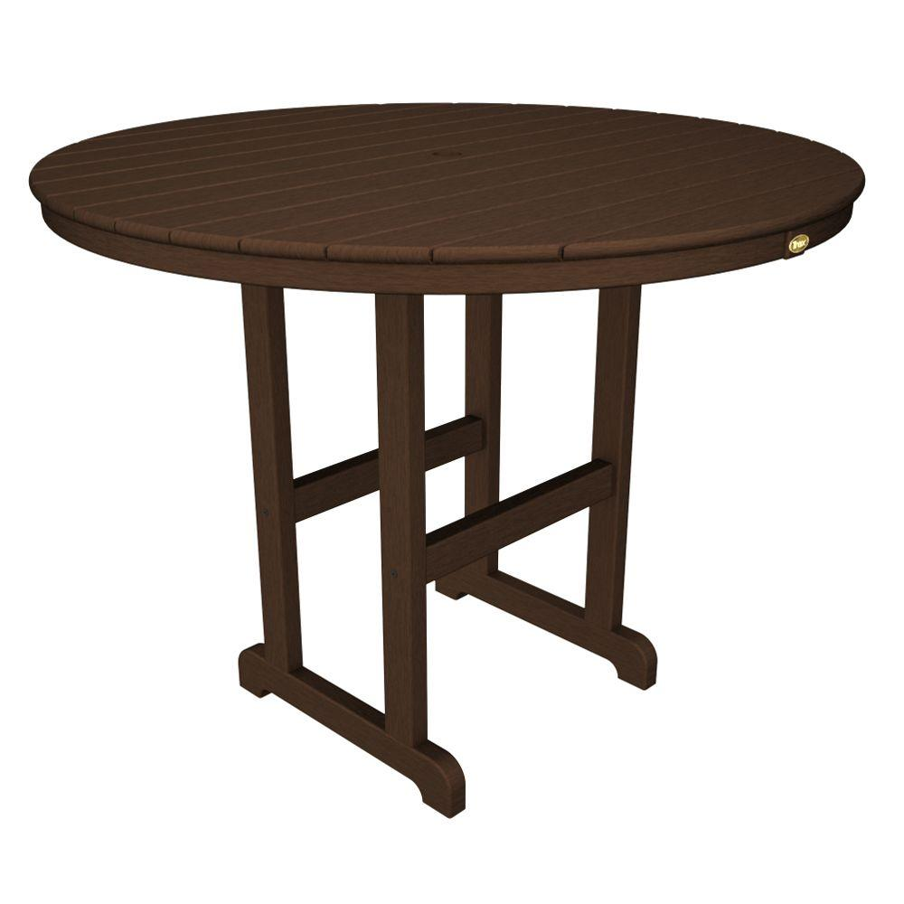 Monterey Bay 48 in. Vintage Lantern Round Patio Counter Table