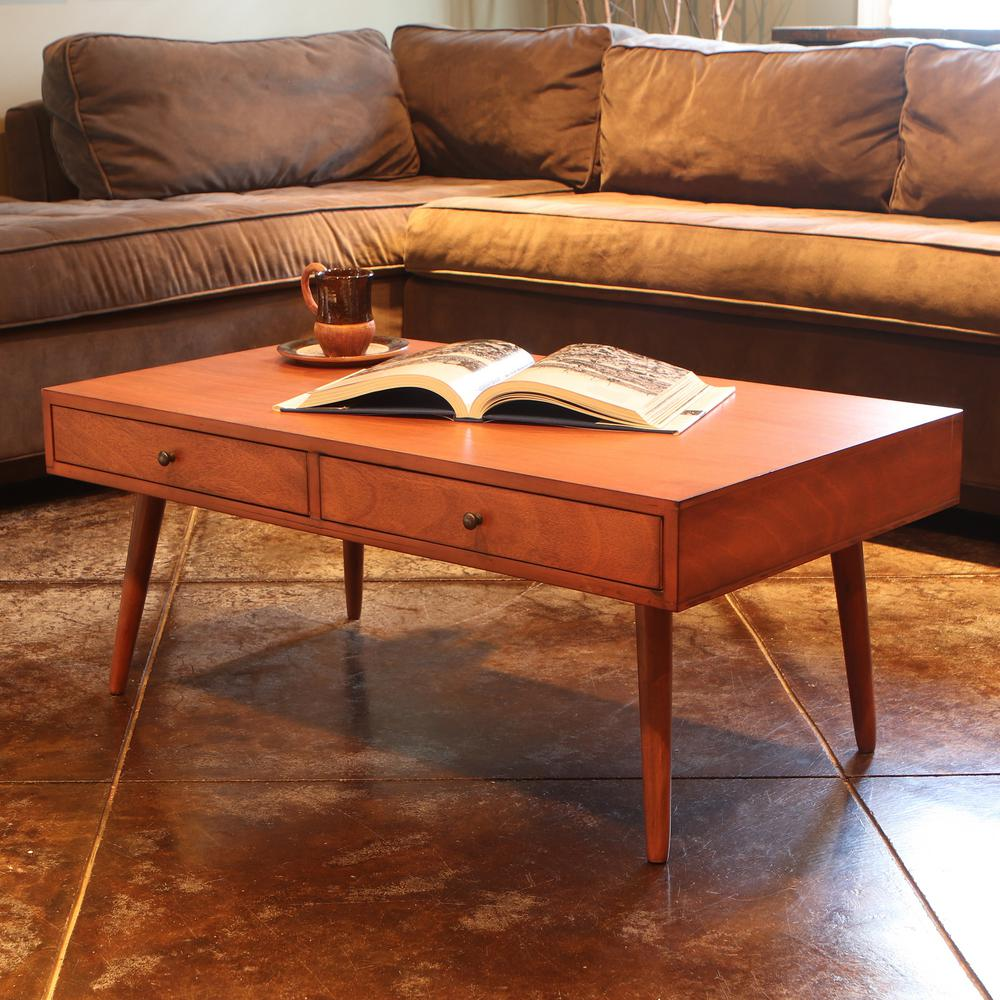 Furinno Simple Design Dark Walnut Coffee Table 11179DWN