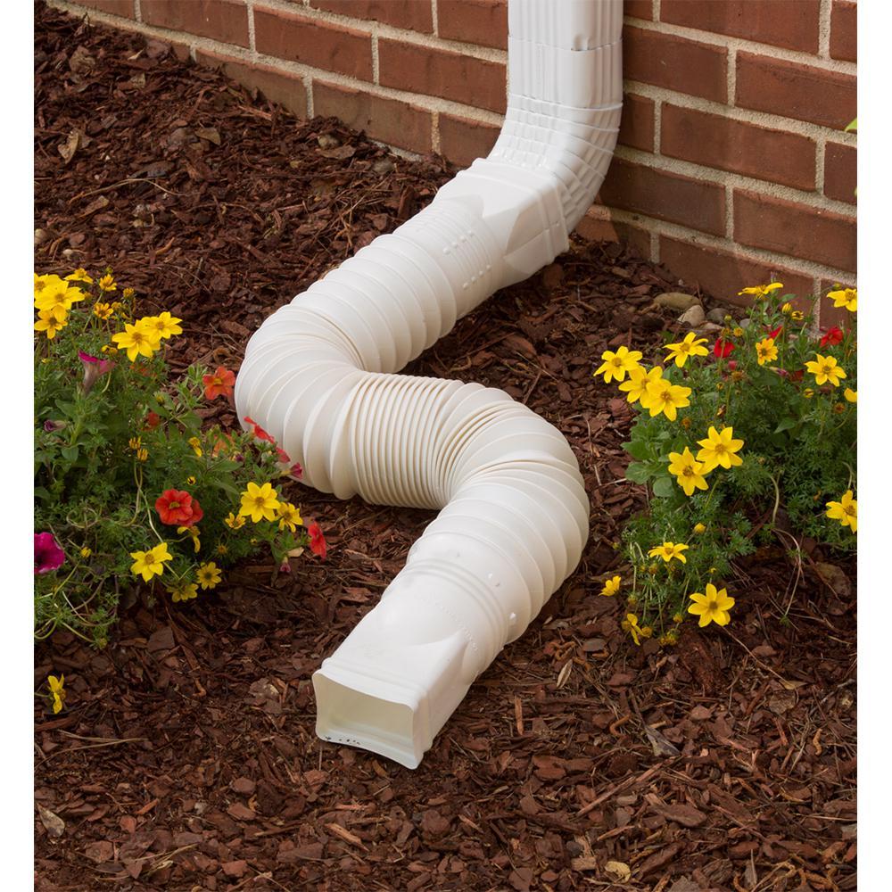 Flex A Spout White Downspout Extension 85010 The Home Depot
