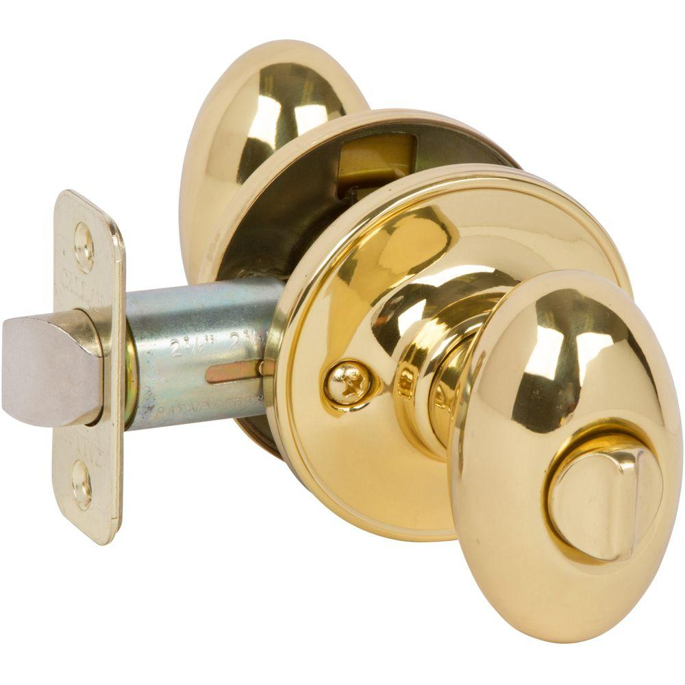 Carlyle Bright Brass Bed/Bath Door Knob