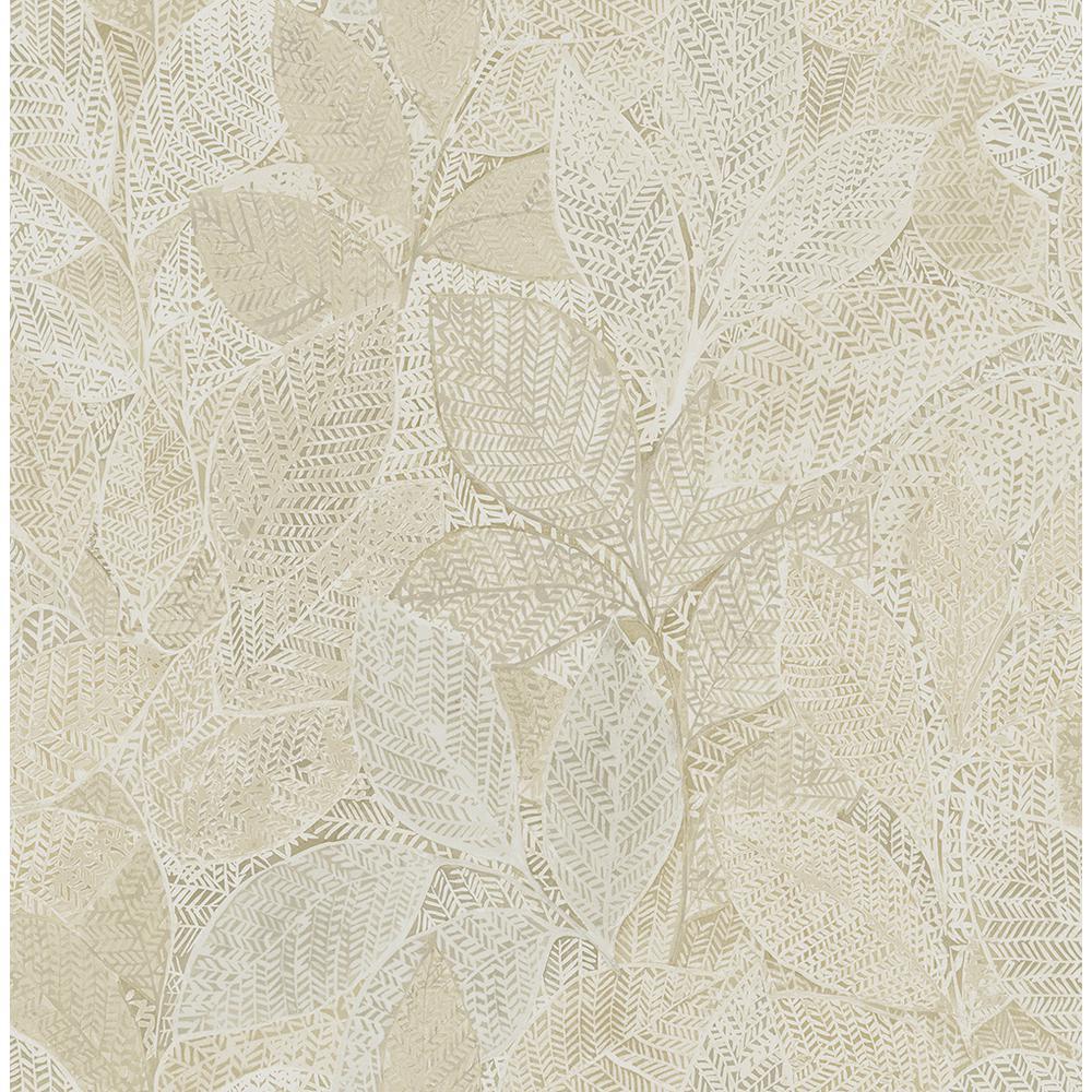 Niabi Gold Leaves Wallpaper