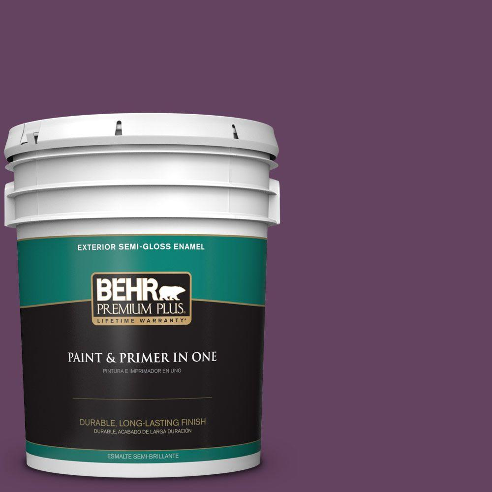 5-gal. #BIC-36 Grape Fizz Semi-Gloss Enamel Exterior Paint