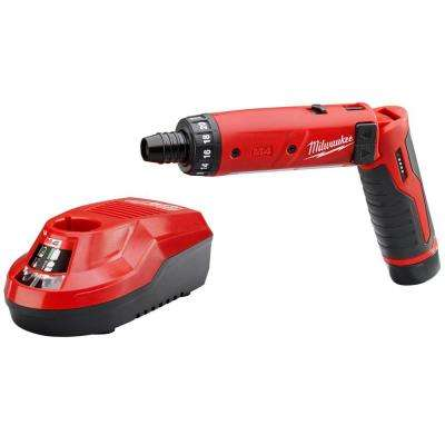 M4 4-Volt Lithium-Ion Cordless 1/4 in. Hex Screwdriver 1-Battery Kit