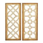 32 in. x 14 in. Brown Wood Farmhouse Wall Decor (Set of 2)