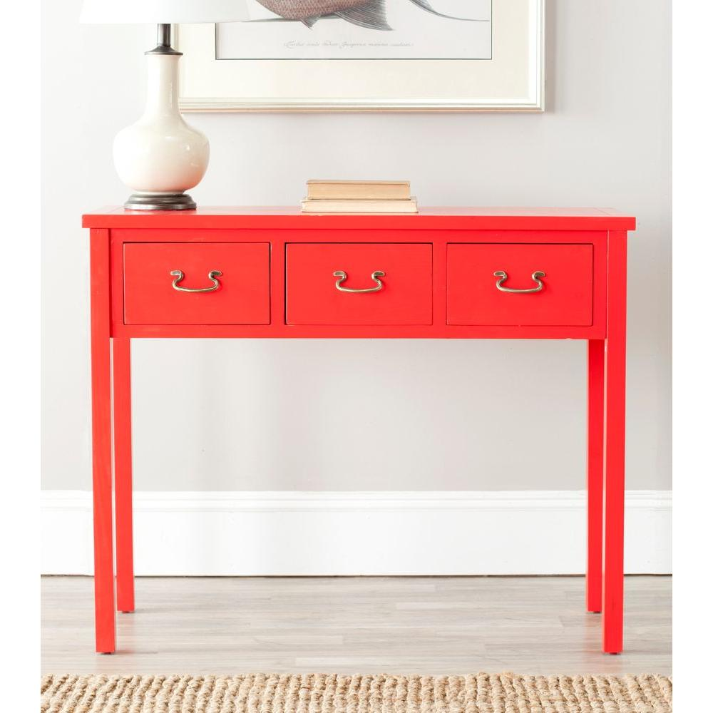 Red console tables accent tables the home depot cindy red storage console table navy terracotta french grey geotapseo Gallery