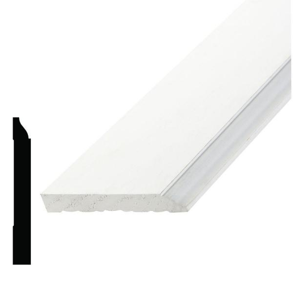 WM 620 9/16 in. x 4-1/4 in. x 96 in. Primed Pine Finger-Jointed Base Moulding