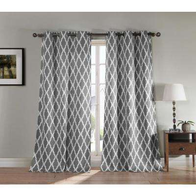 Blackout Kittattinny 112 in. L Blackout Grommet Panel in Grey (2-Pack)