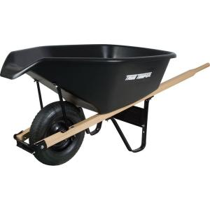 True Temper 6 cu. ft. EZ Pour Poly Wheelbarrow by True Temper