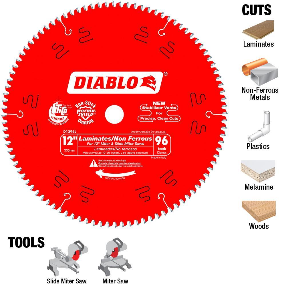Diablo 12 In X 96 Tooth Laminate Non Ferrous Metal