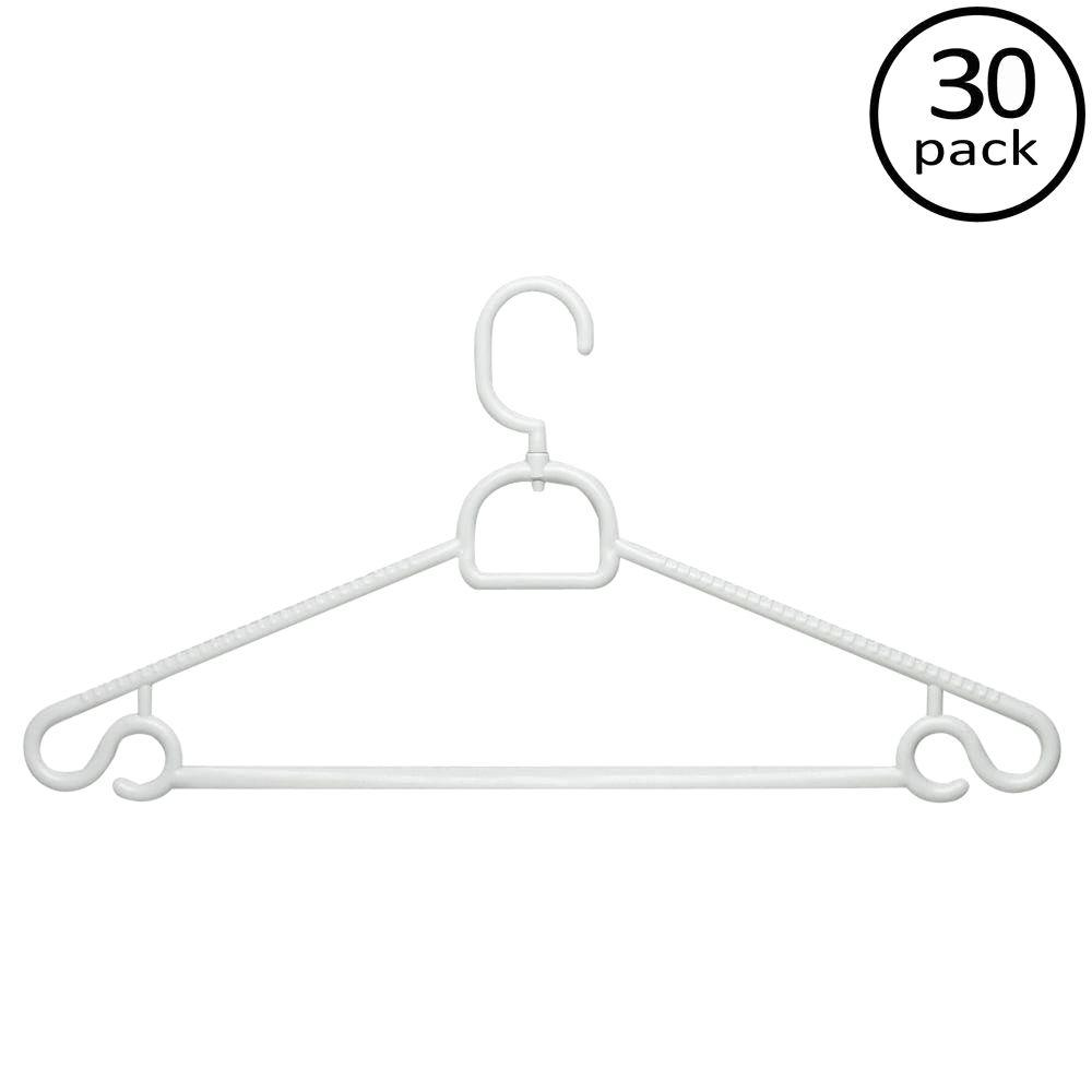Honey-Can-Do 52g Swivel Tubular Hanger (30-Pack)
