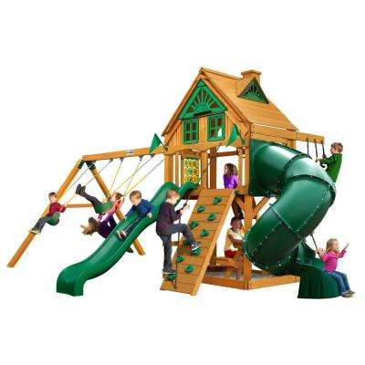 Mountaineer Treehouse Swing Set with Amber Posts