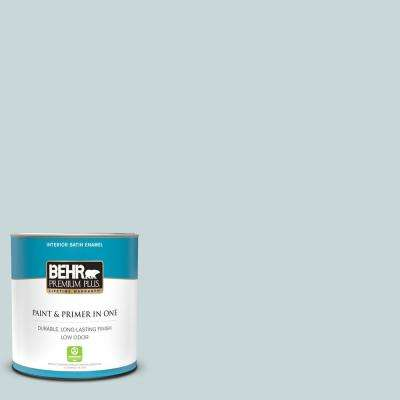 1 qt. #PPU13-16 Offshore Mist Satin Enamel Low Odor Interior Paint and Primer in One