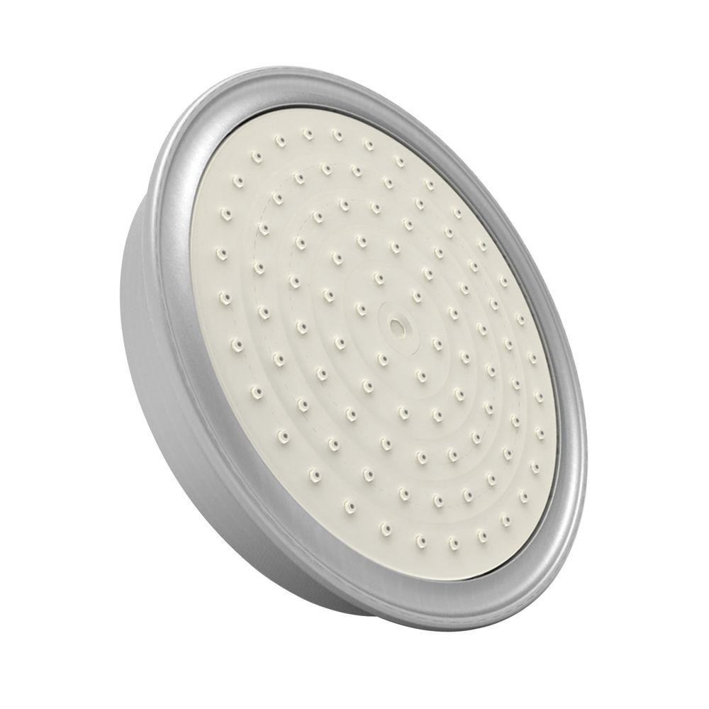 Newport Brass Single Function 6 in. D Showerhead Only in Satin Nickel-DISCONTINUED