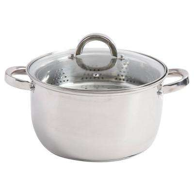 Sangerfield 6 Qt. Stainless Steel Stock Pot with Steamer Insert and Lid