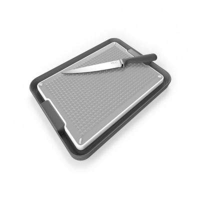 Chopping Board and Tray Set in Gray