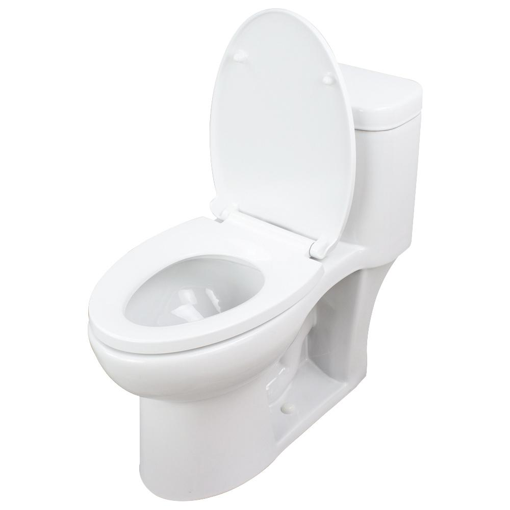 Enjoyable Transolid Garfield 1 Piece 1 28 Gpf Single Flush Elongated Toilet In White Seat Included Pabps2019 Chair Design Images Pabps2019Com