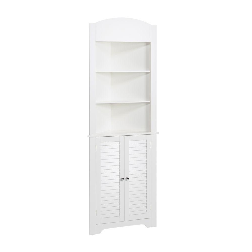 Marvelous Riverridge Home Ellsworth 23 1 4 In W X 68 31 100 X 11 1 2 In D Corner Bathroom Linen Storage Tower Cabinet In White Home Interior And Landscaping Mentranervesignezvosmurscom