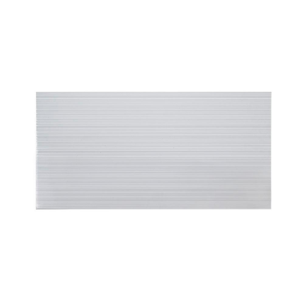 Jeffrey Court Morning Tide Gray 6 in. x 20 in. Glossy Glazed Ceramic Wall Tile (0.833 sq. ft. / each)