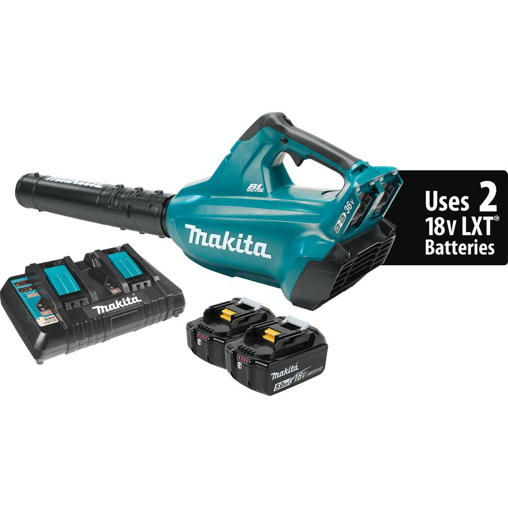 18-Volt X2 (36-Volt) LXT Lithium-Ion Brushless Cordless Blower Kit with (2)
