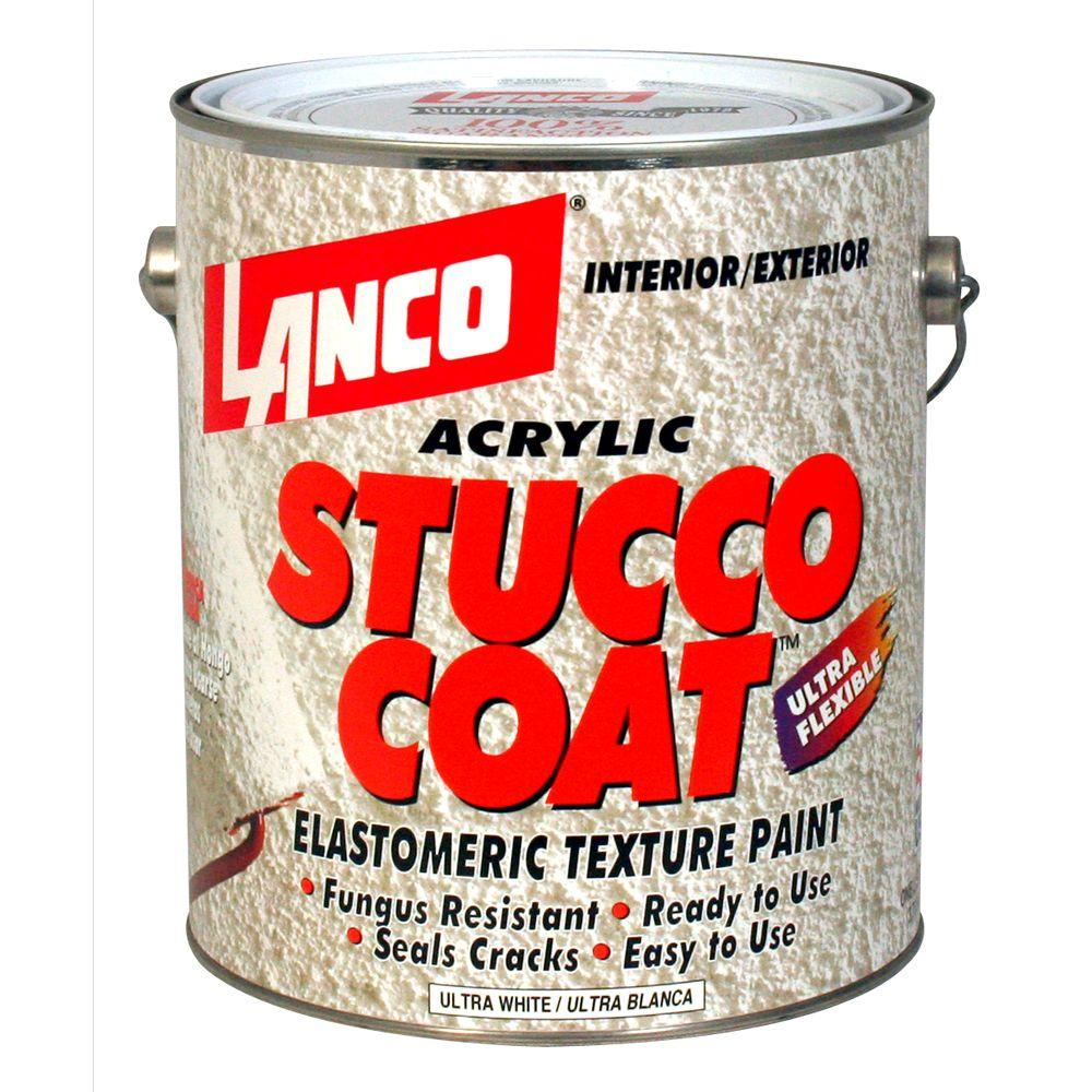 Lanco Stucco Coat 1 Gal Acrylic Ultra White Elastomeric Texture