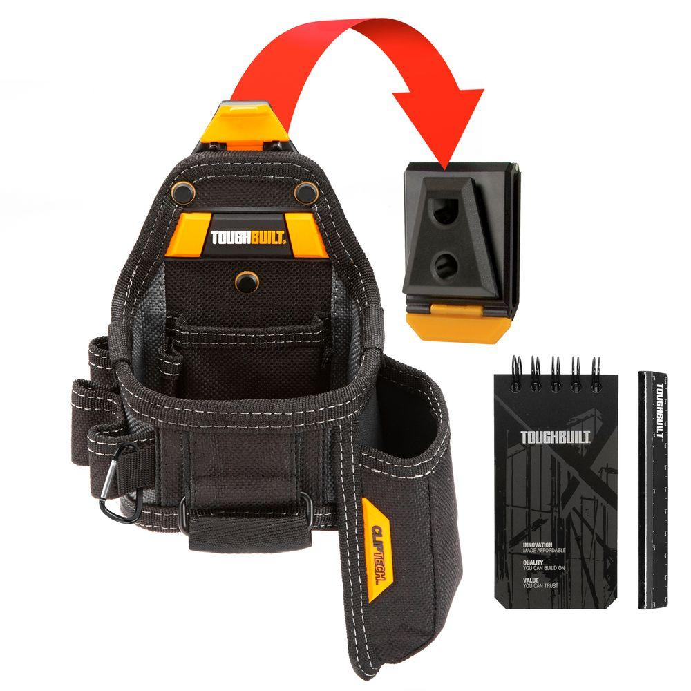 Toughbuilt Tape Measure With Utility Knife Pouch Black