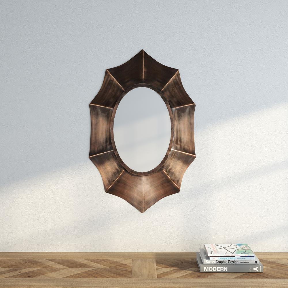 Serafina 36 in. x 22 in. Oval Framed Mirror